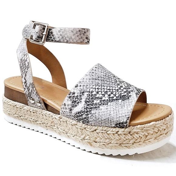 8c20900c65c New Topic Beige Python Platform Espadrille Sandals. Boutique. Soda